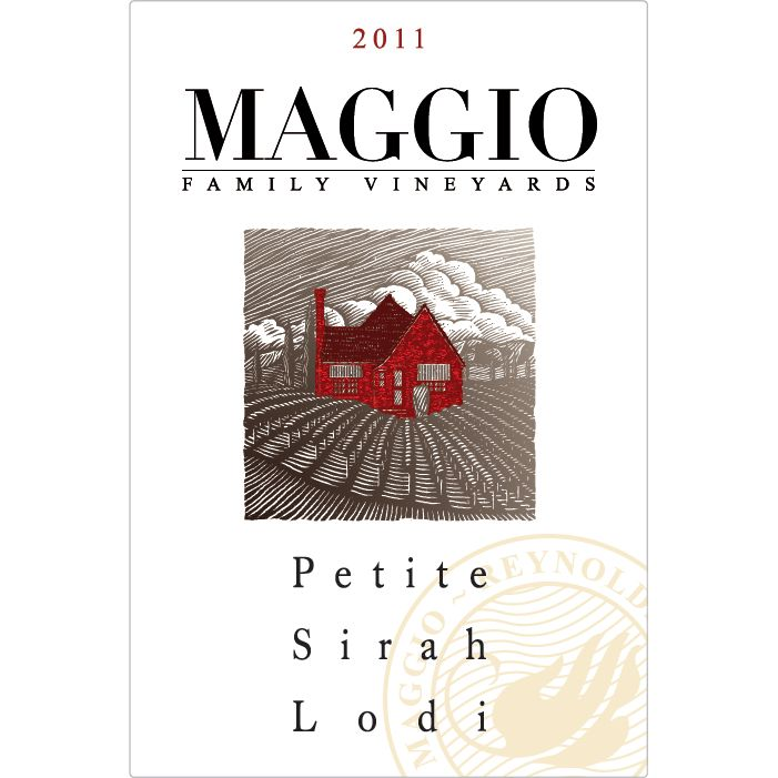 Maggio Family Vineyards Petite Sirah 2012 Front Label