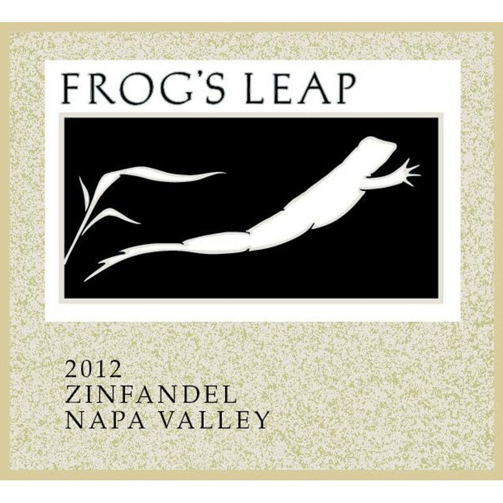 Frog's Leap Zinfandel (375ML half-bottle) 2012 Front Label