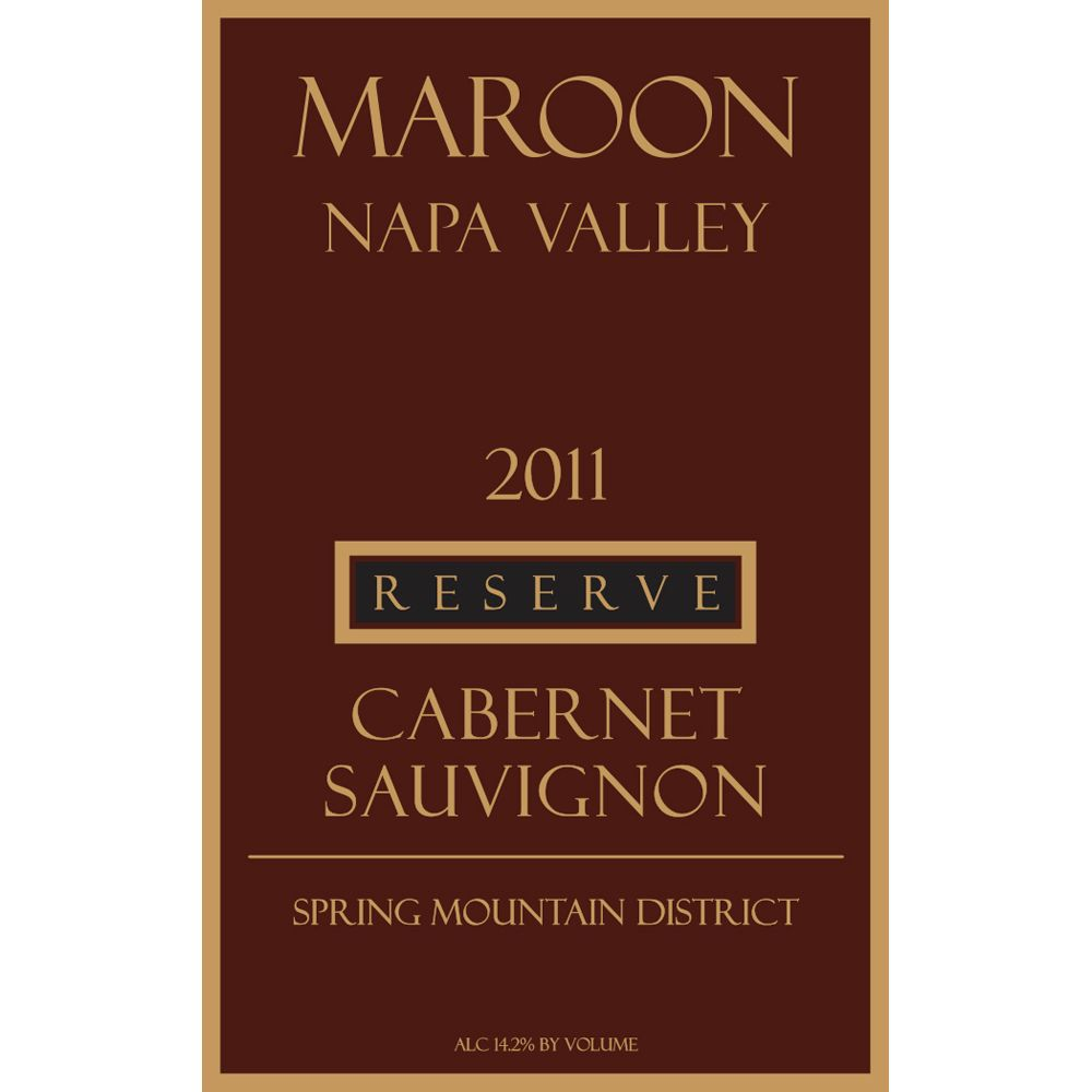 Maroon Spring Mountain Reserve Cabernet Sauvignon 2011 Front Label