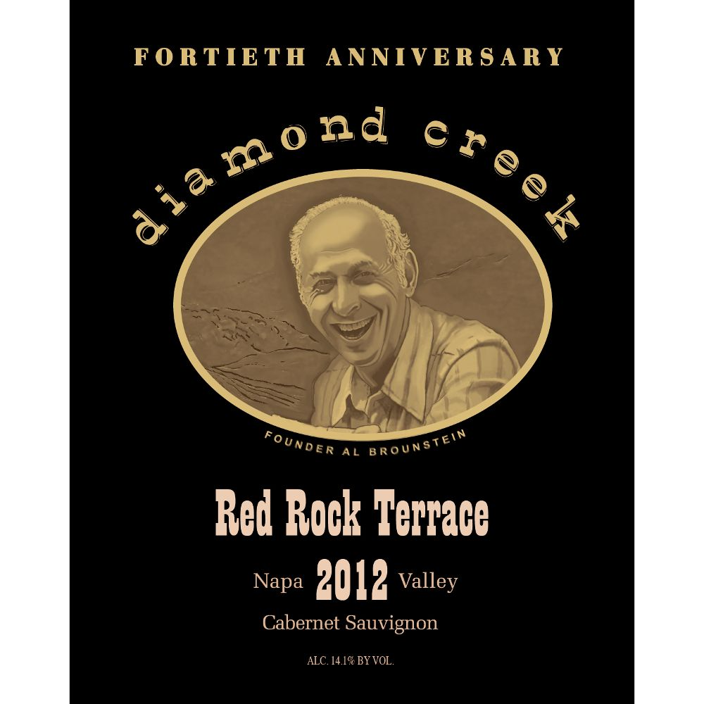 Diamond Creek Red Rock Terrace Cabernet Sauvignon 2012 Front Label