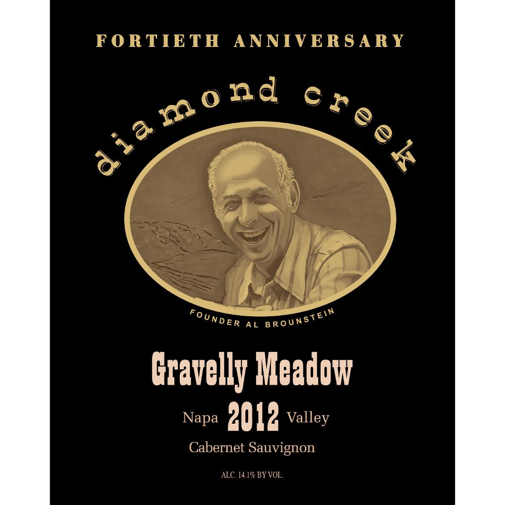 Diamond Creek Gravelly Meadow Cabernet Sauvignon 2012 Front Label