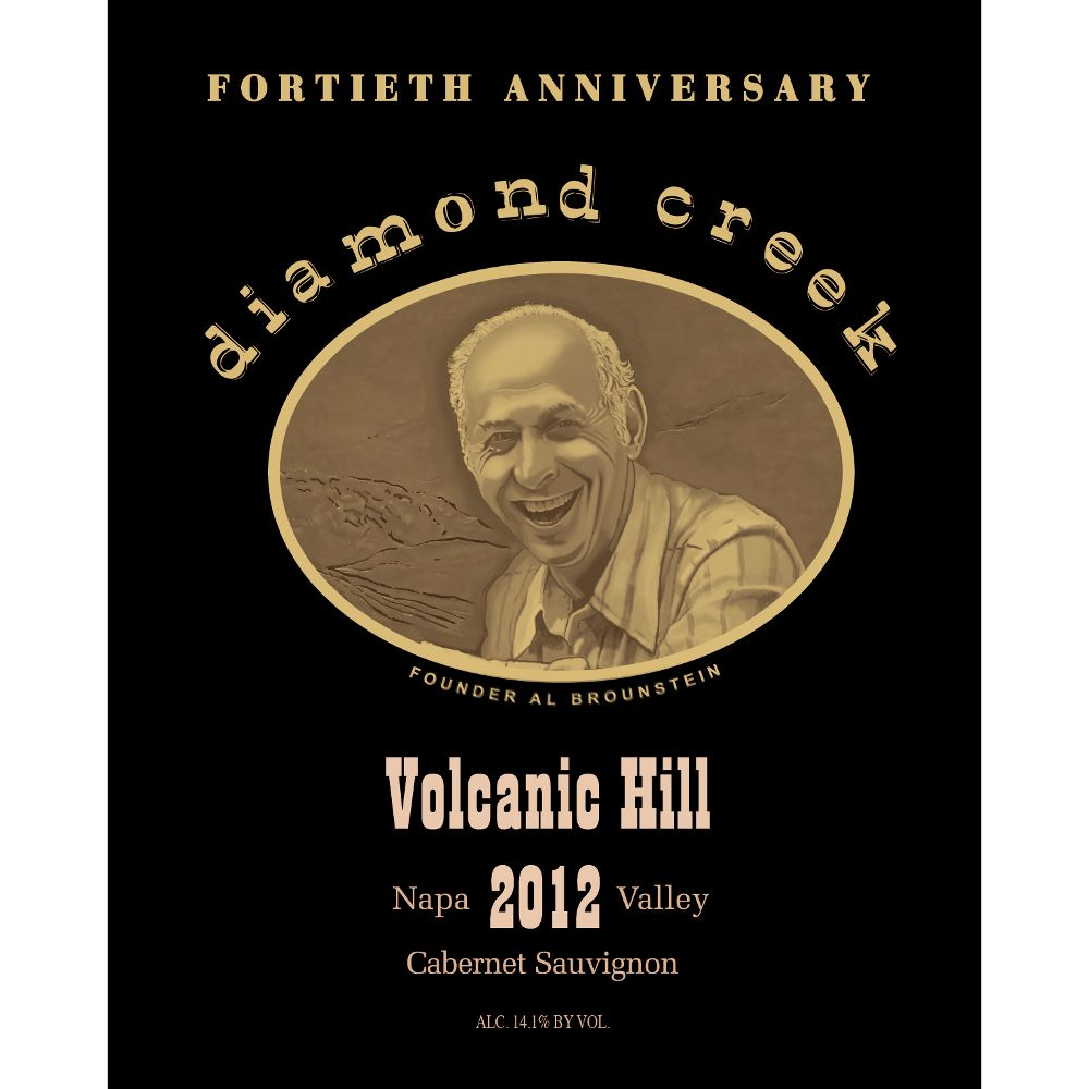 Diamond Creek Volcanic Hill Cabernet Sauvignon 2012 Front Label