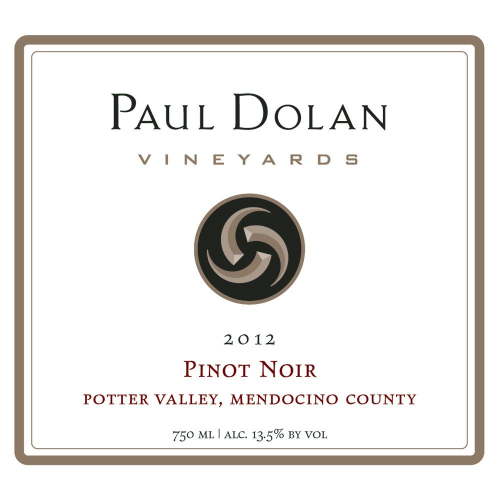 Paul Dolan Vineyards Organic Pinot Noir 2012 Front Label