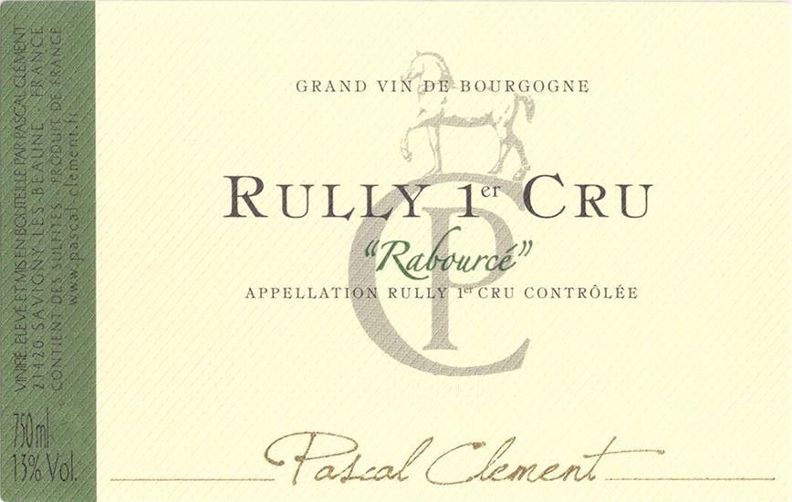 Maison Pascal Clement Rully Rabource Premier Cru 2014 Front Label