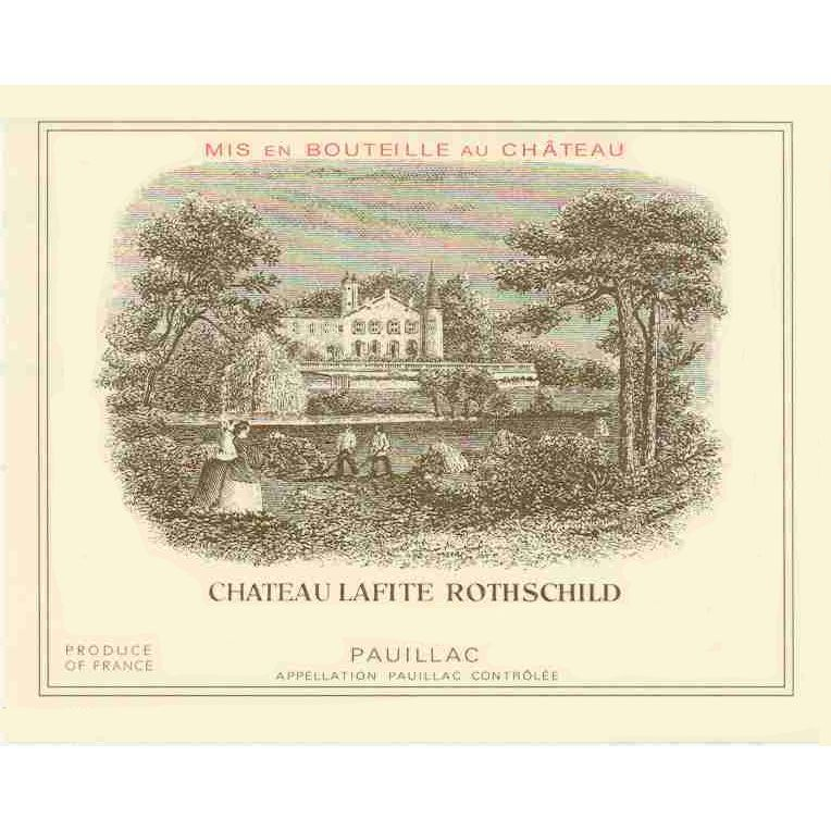 Chateau Lafite Rothschild (1.5 Liter Magnum) OWC 1981 Front Label