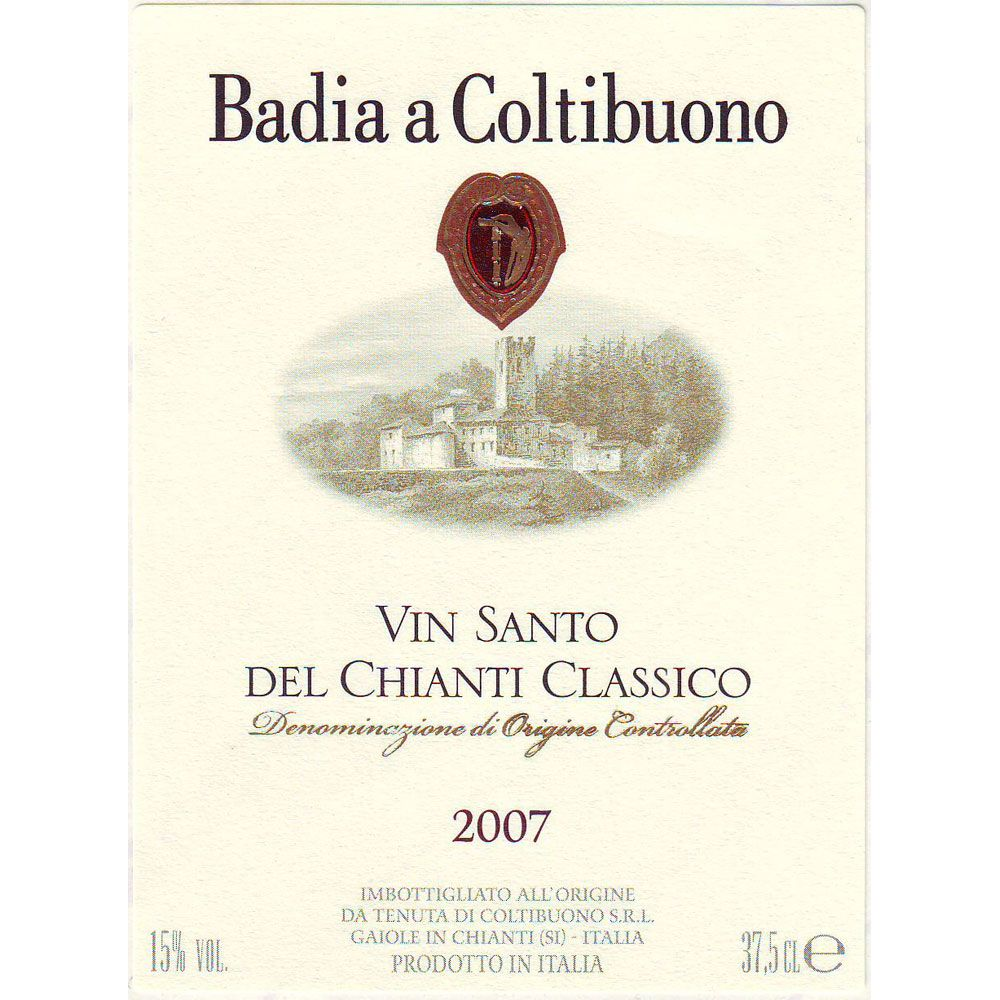 Badia a Coltibuono Vin Santo (375ML half-bottle) 2007 Front Label