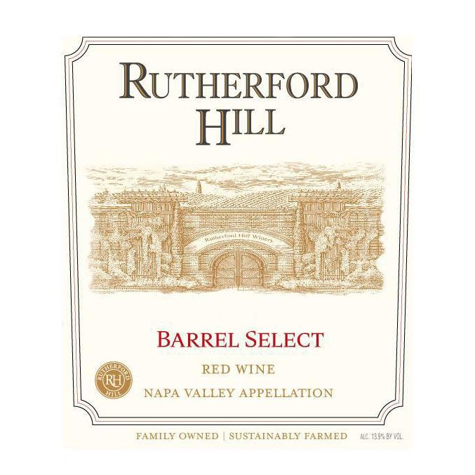 Rutherford Hill Barrel Select Red Blend 2010 Front Label