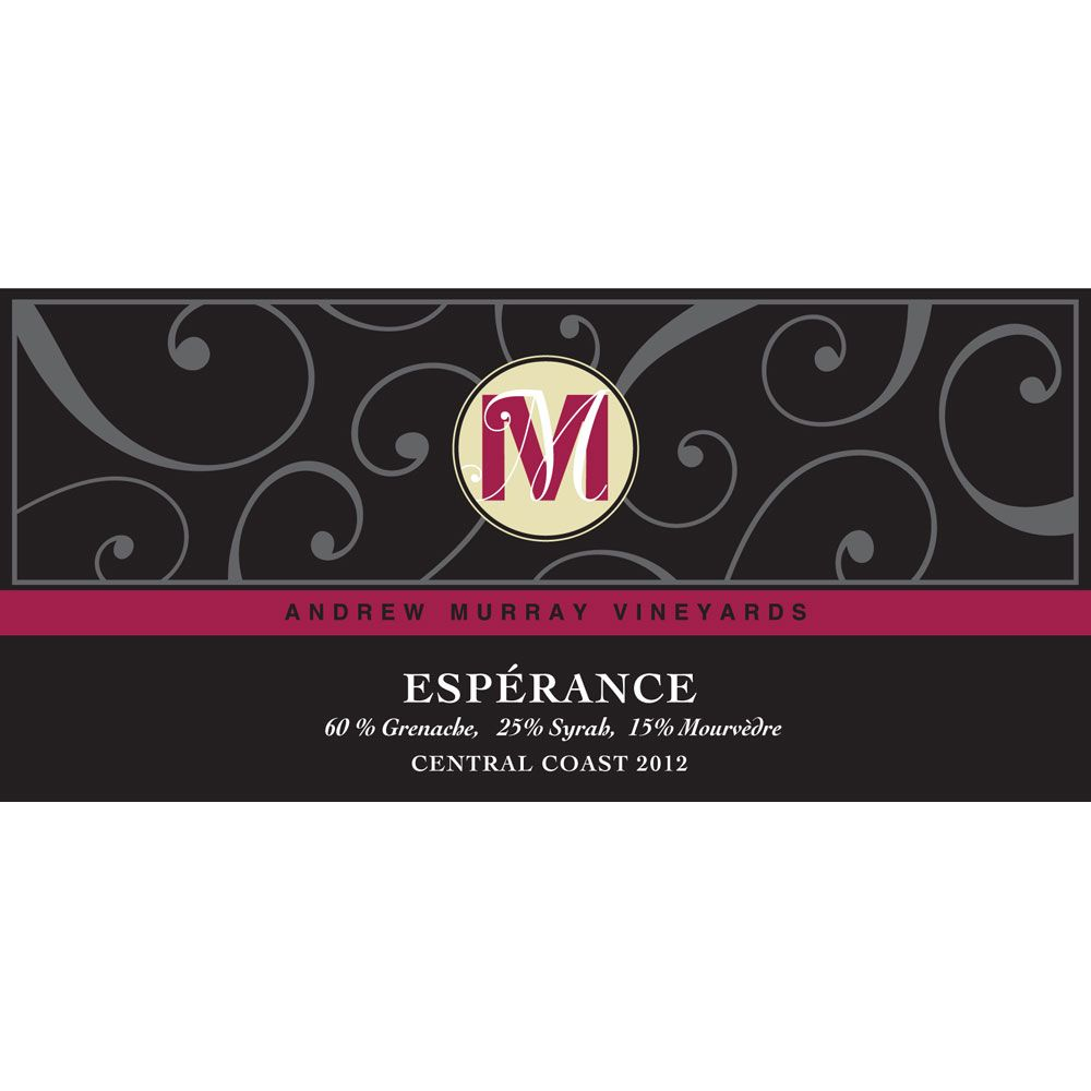 Andrew Murray Esperance Red Blend 2012 Front Label