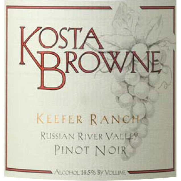 Kosta Browne Keefer Ranch Vineyard Pinot Noir 2012 Front Label