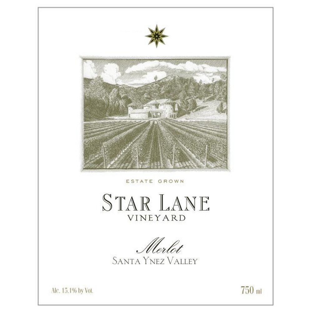 Star Lane Vineyard Merlot 2011 Front Label