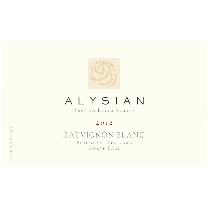 Alysian Floodgate Vineyard Sauvignon Blanc 2012 Front Label