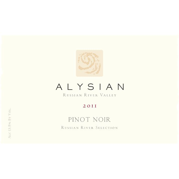 Alysian Russian River Selection Pinot Noir 2011 Front Label