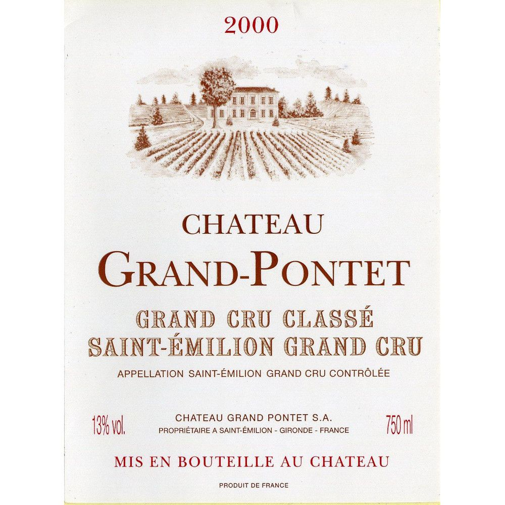 Chateau Grand-Pontet  2000 Front Label