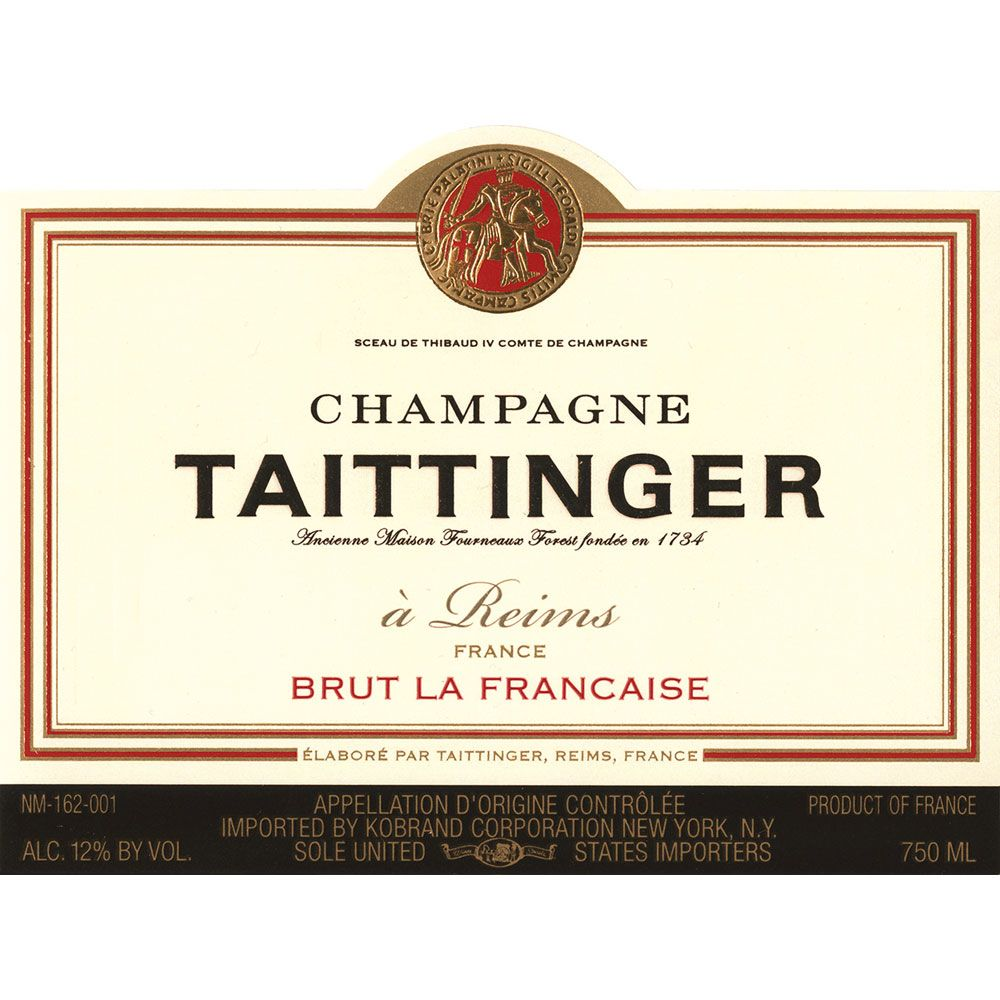 Taittinger Brut La Francaise (375ML half-bottle) Front Label
