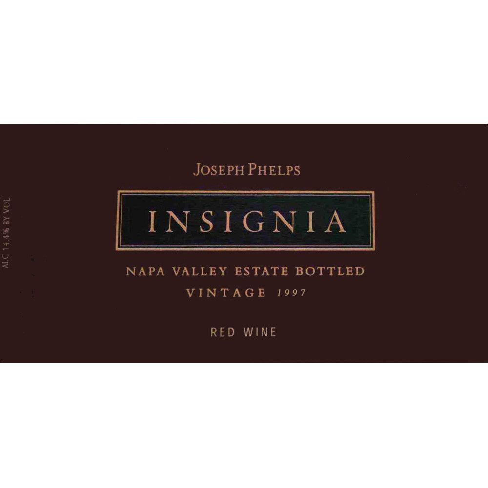 Joseph Phelps Insignia (3 Liter Bottle) 1997 Front Label