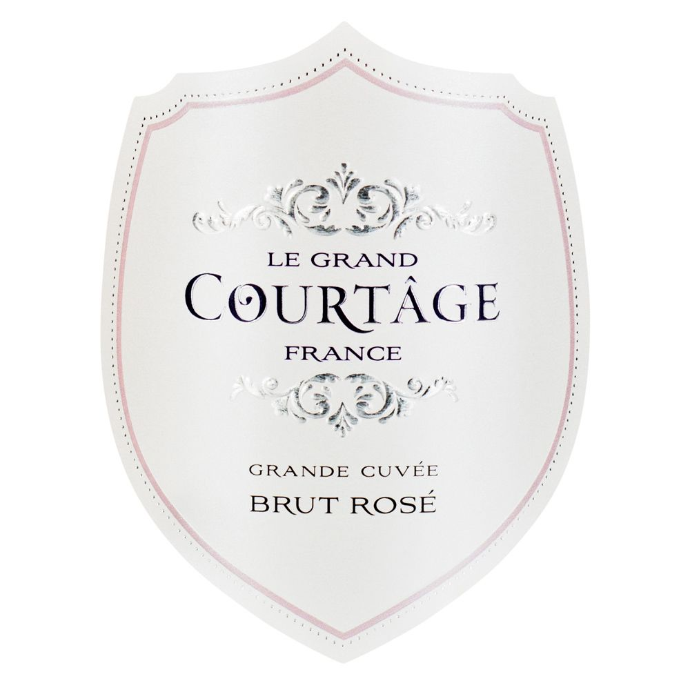 Le Grand Courtage Rose Brut Front Label