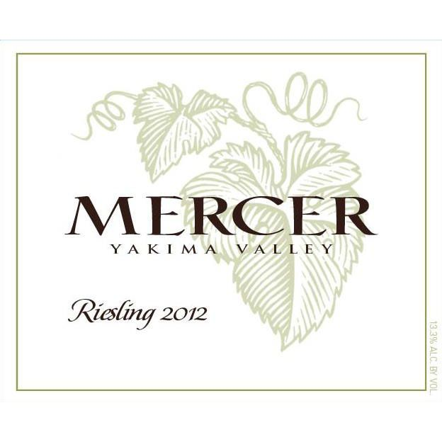 Mercer Estates Riesling 2012 Front Label