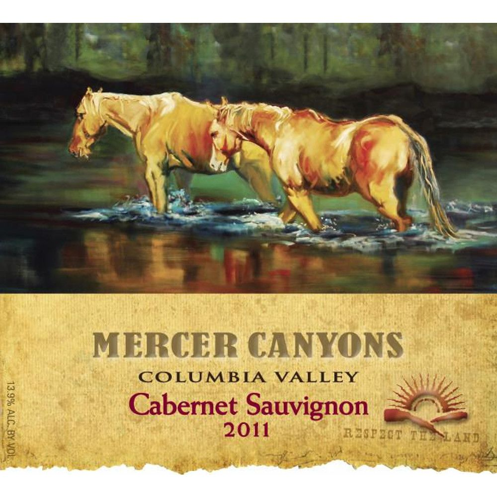 Mercer Canyons Cabernet Sauvignon 2011 Front Label