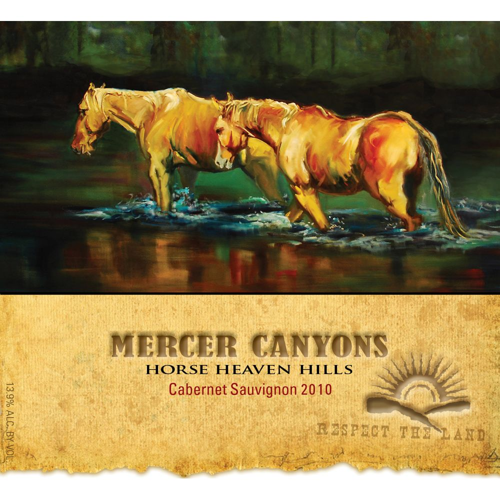 Mercer Canyons Cabernet Sauvignon 2010 Front Label