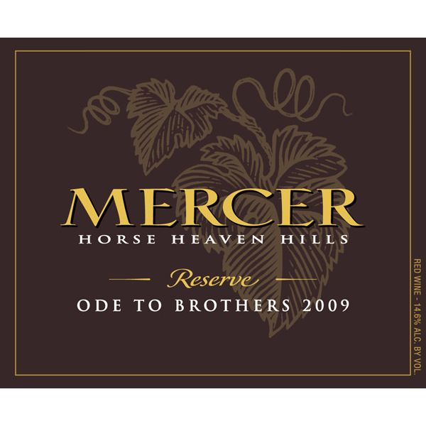 Mercer Estates Horse Heaven Hills Ode to Brothers 2009 Front Label