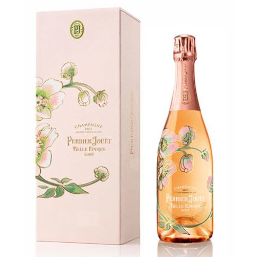 Perrier-Jouet Rose Belle Epoque with Gift Box 2005 Front Label