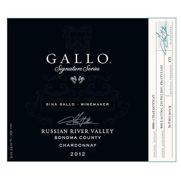 Gallo Signature Series Chardonnay 2012 Front Label