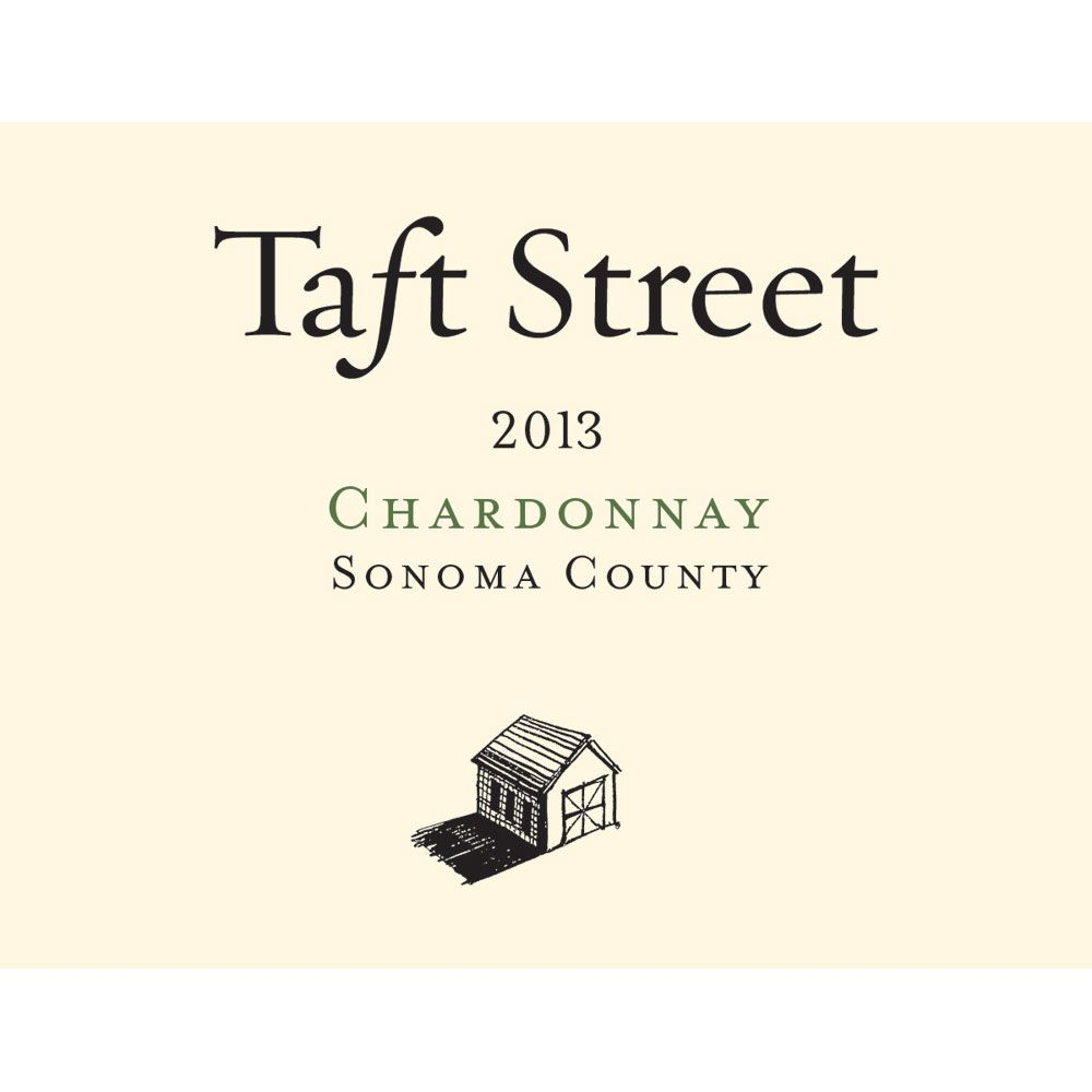 Taft Street Russian River Valley Chardonnay 2013 Front Label