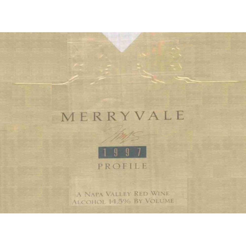 Merryvale Profile (torn label) 1997 Front Label