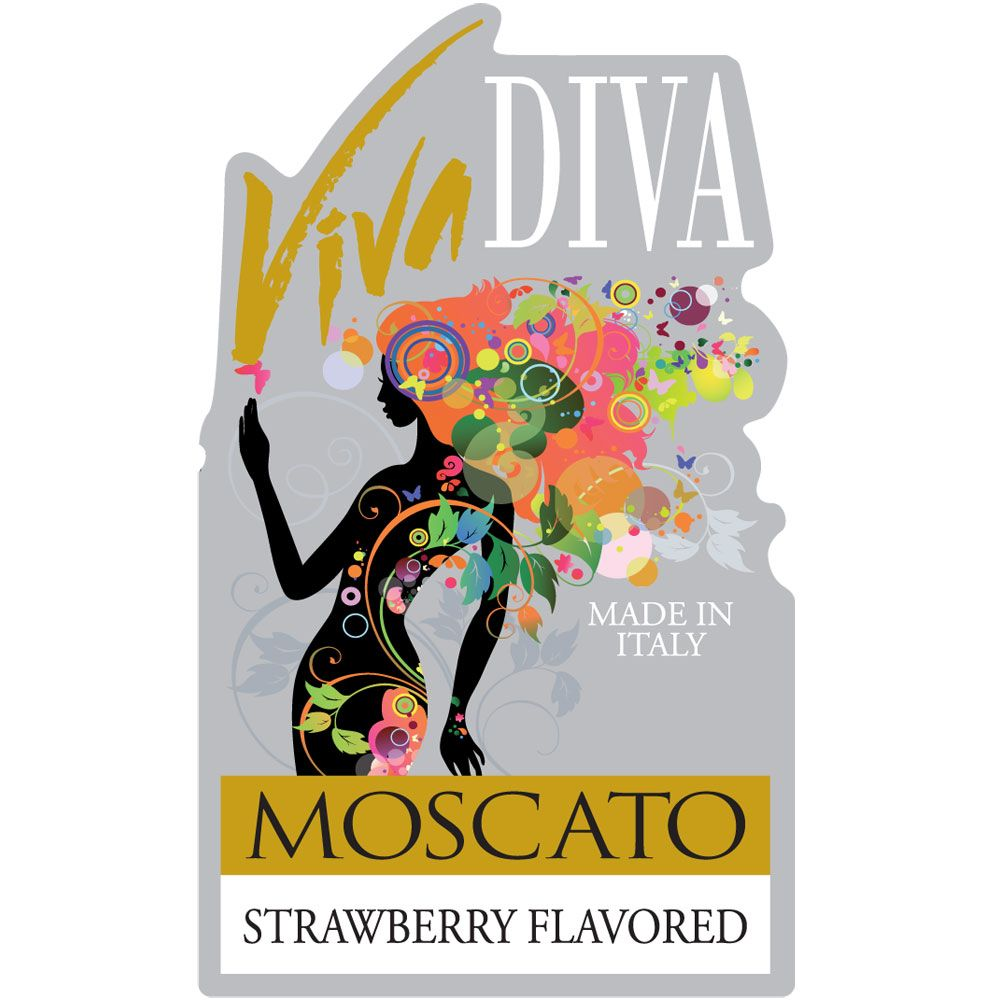 Viva Diva Moscato Strawberry Front Label