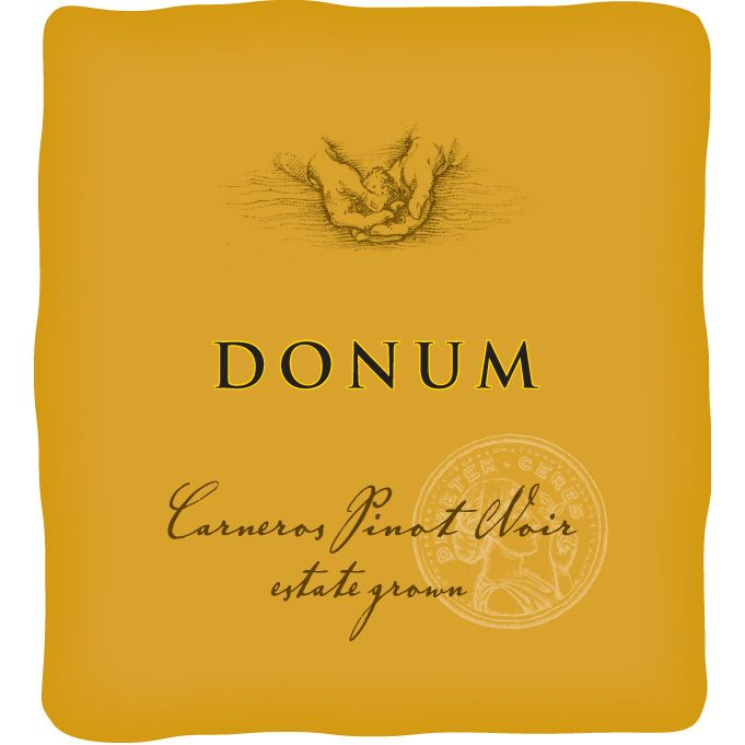 The Donum Estate Carneros Estate Grown Pinot Noir 2012 Front Label