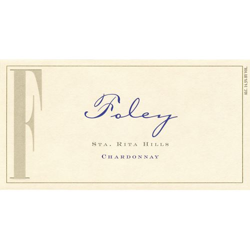 Foley Estate Winery Sta. Rita Hills Chardonnay 2012 Front Label