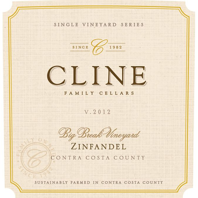 Cline Big Break Zinfandel 2012 Front Label