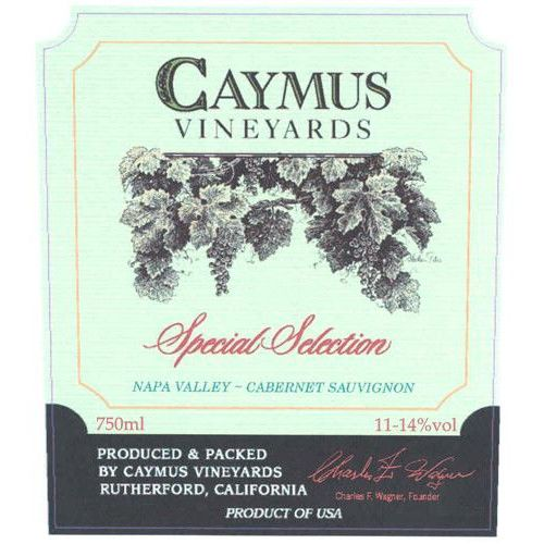 Caymus Special Selection (1.5L Magnum - loose capsule) 1992 Front Label