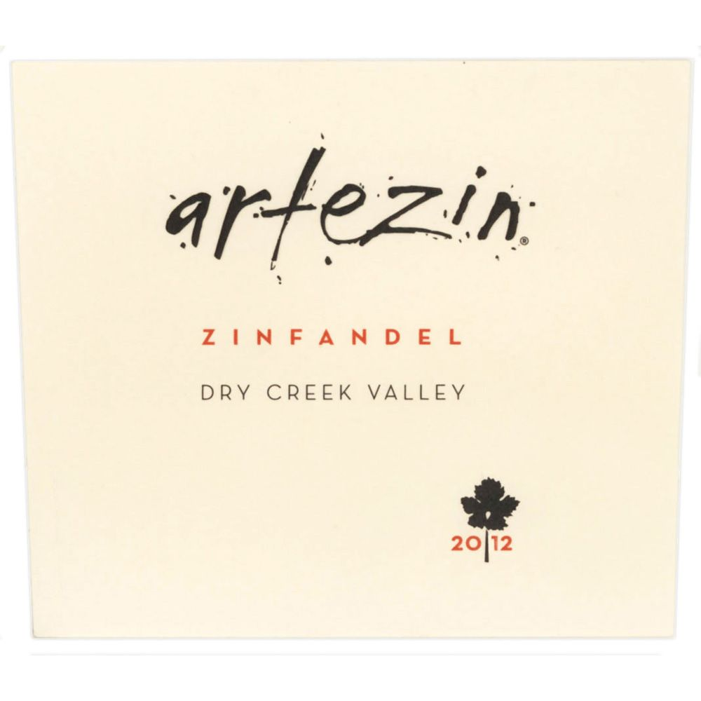 Artezin Dry Creek Zinfandel 2012 Front Label