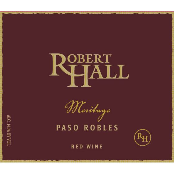 Robert Hall Meritage Red Blend 2013 Front Label