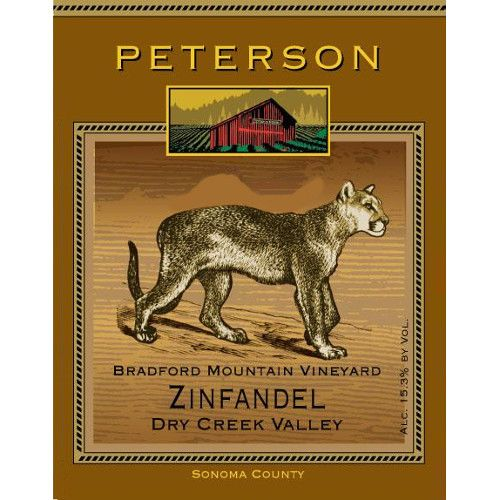 Peterson Dry Creek Zinfandel 2012 Front Label