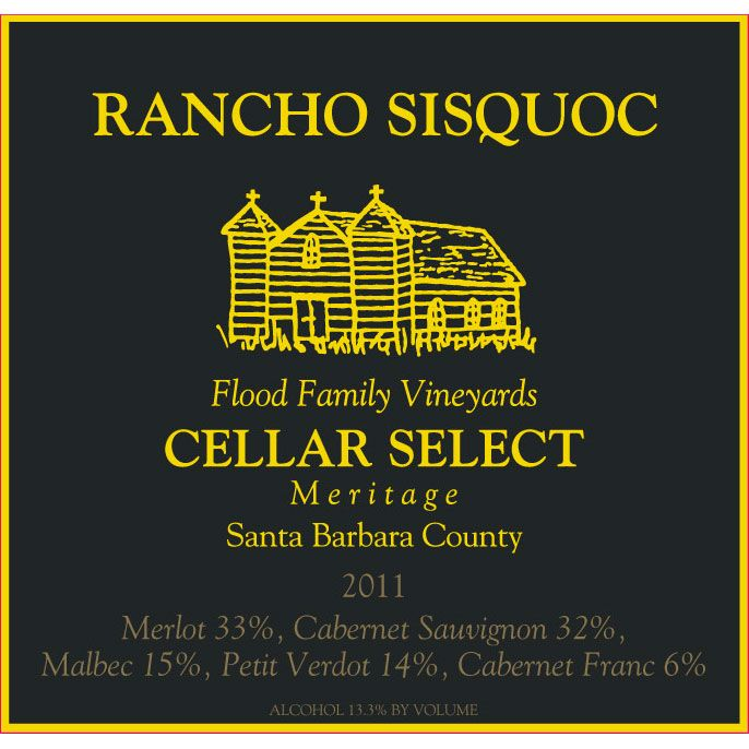 Rancho Sisquoc Cellar Select Meritage 2011 Front Label