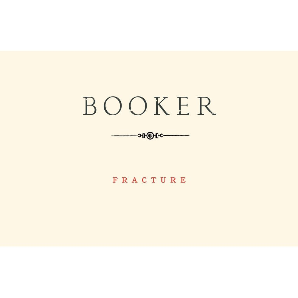 Booker Vineyard Fracture 24 Syrah 2012 Front Label