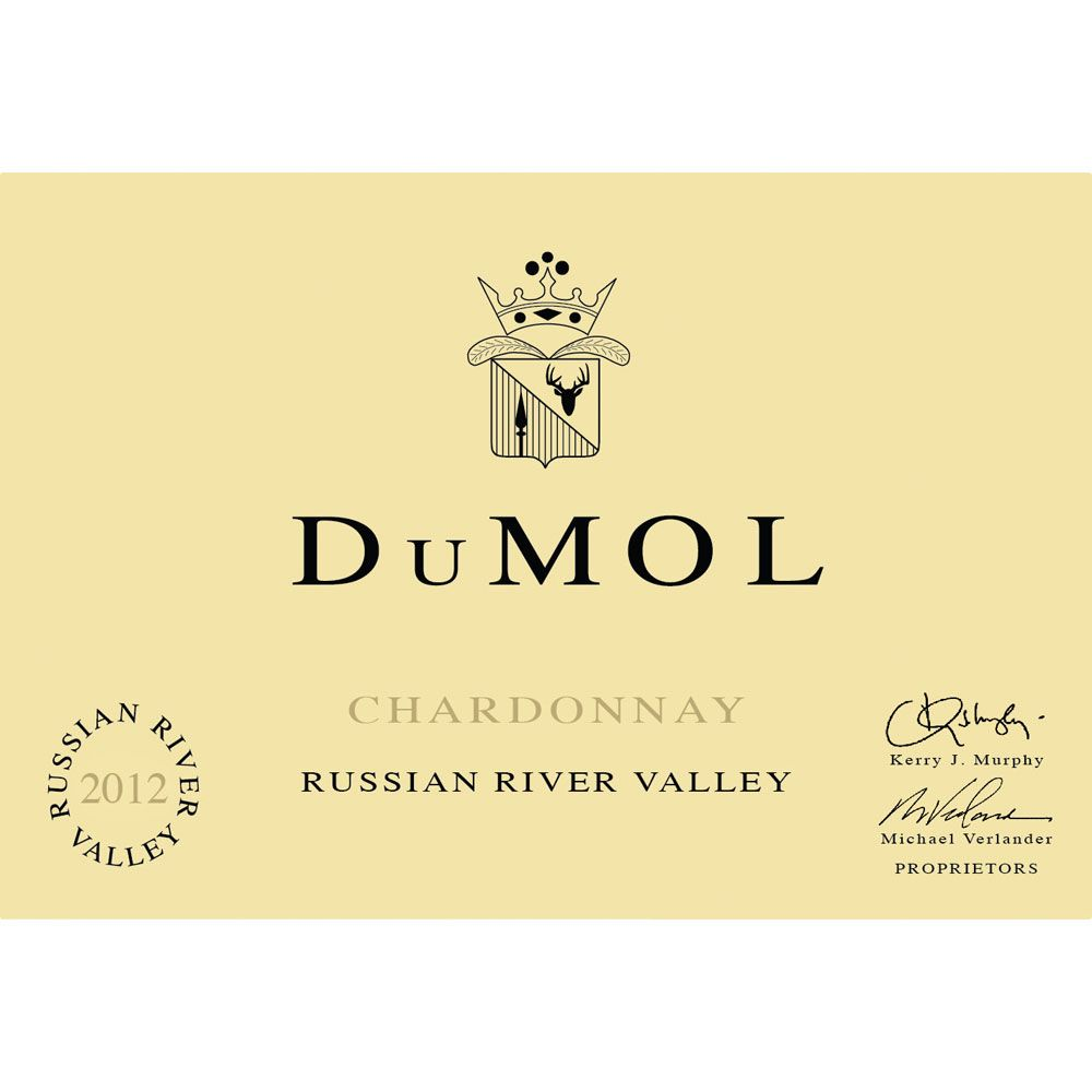 DuMOL Russian River Valley Chardonnay (375ML half-bottle) 2012 Front Label