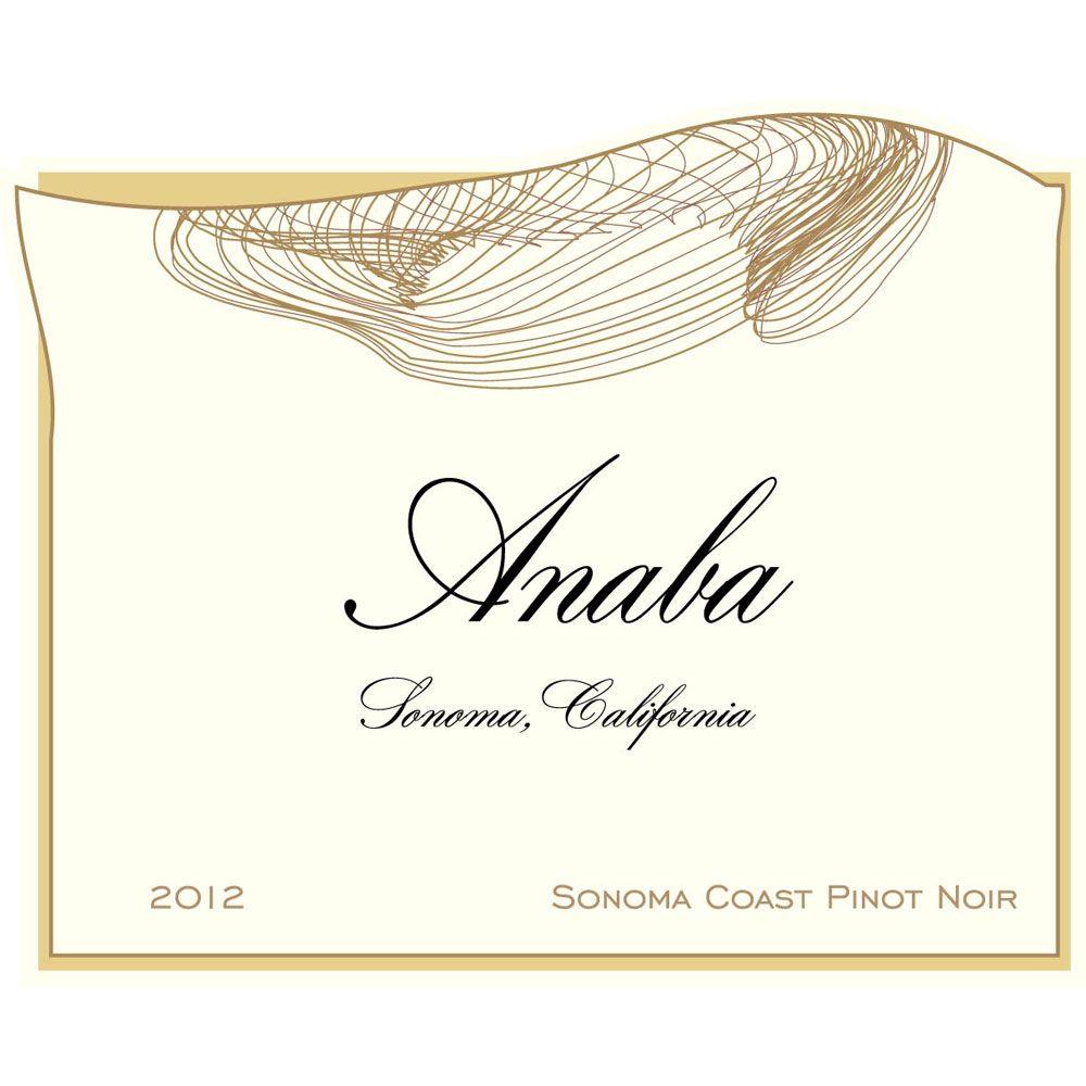 Anaba Sonoma Coast Pinot Noir 2012 Front Label