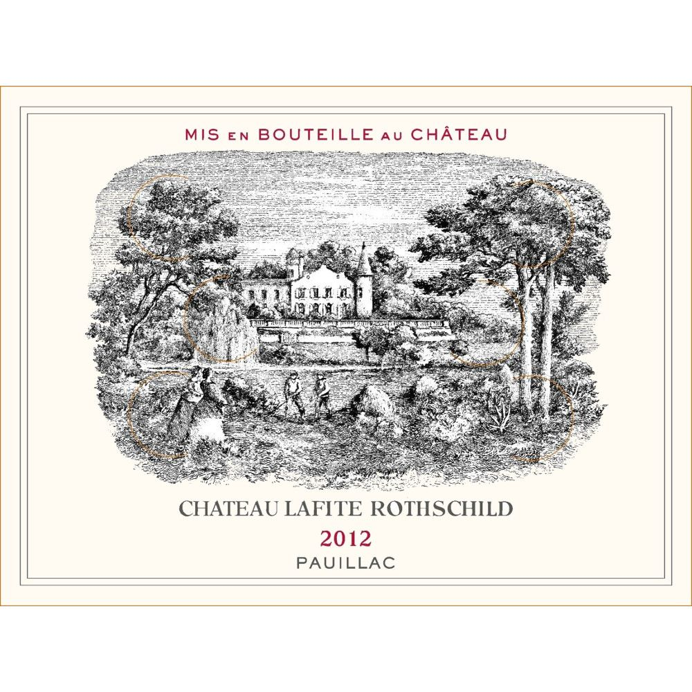 Chateau Lafite Rothschild  2012 Front Label