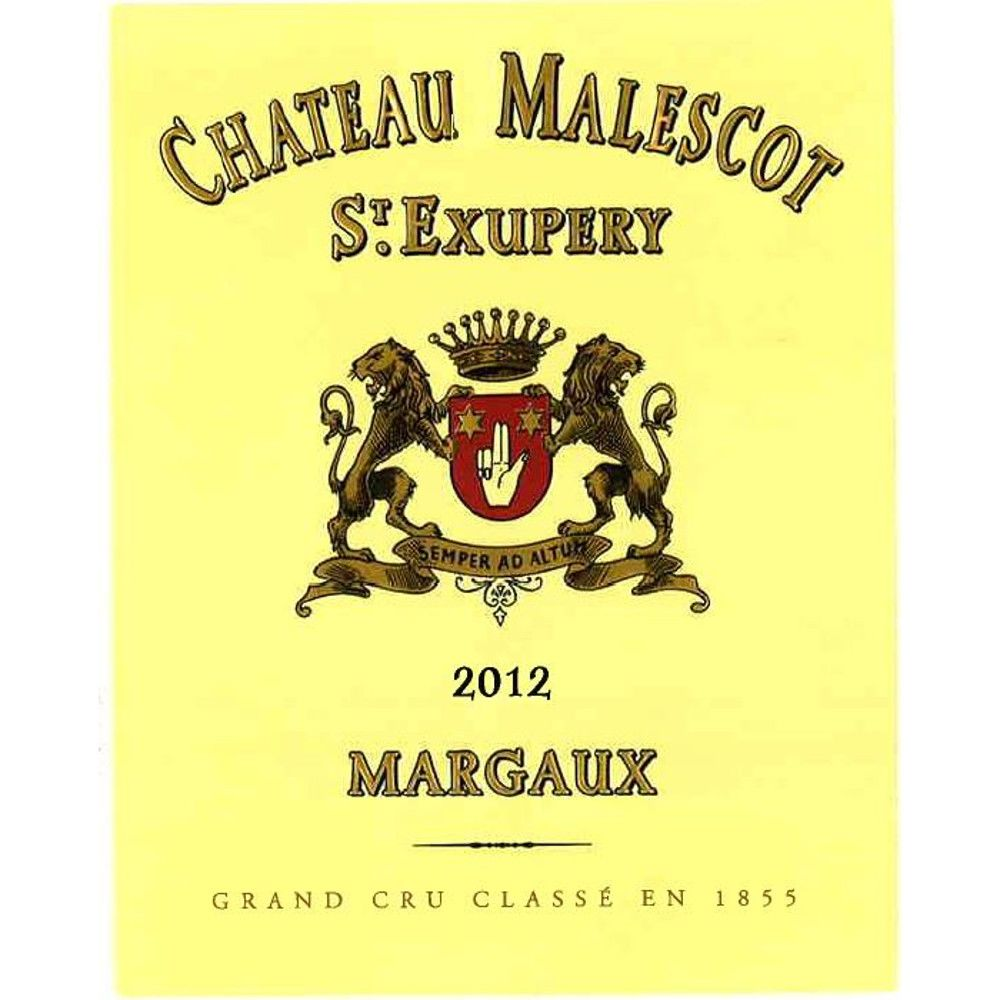 Chateau Malescot St. Exupery  2012 Front Label