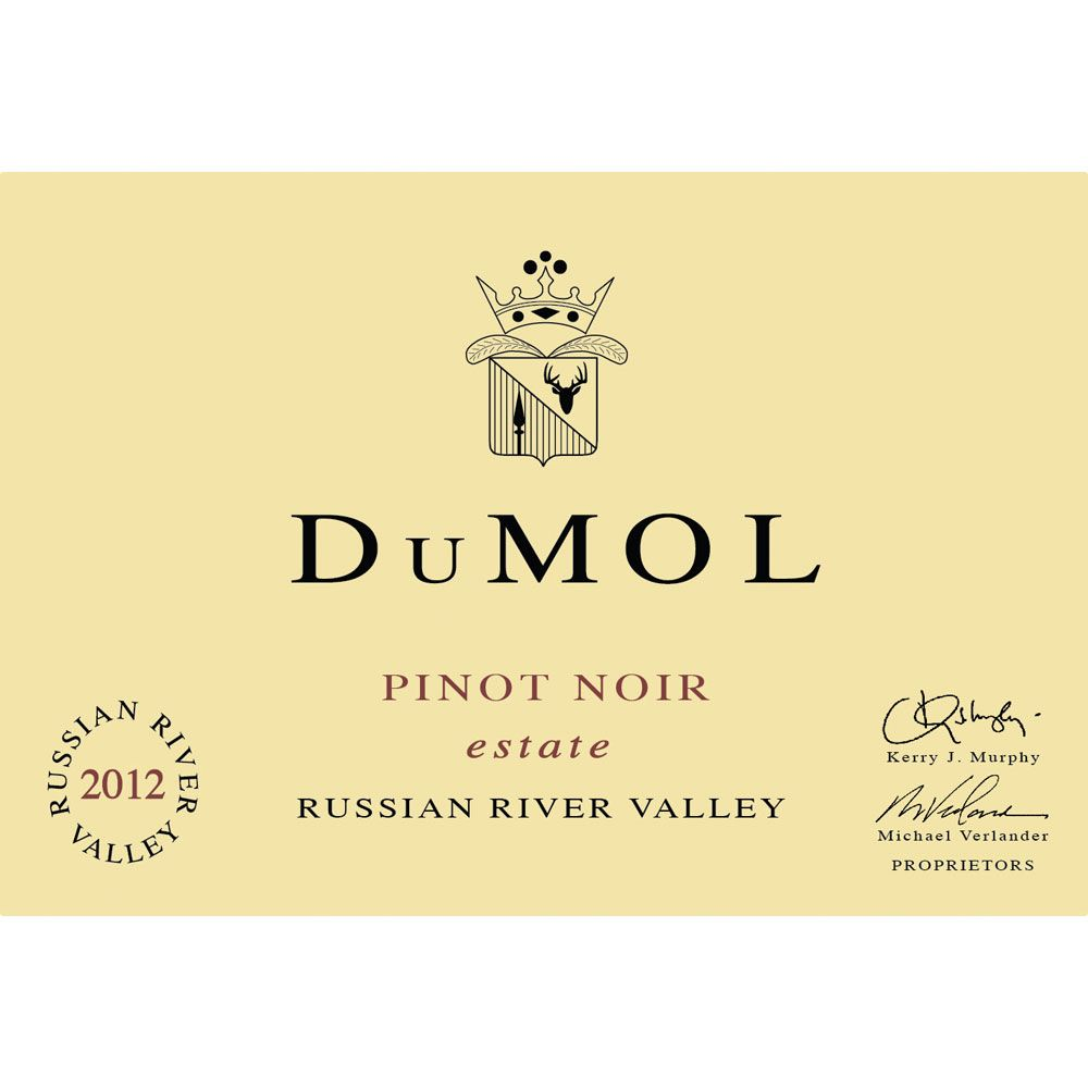 DuMOL Estate Pinot Noir 2012 Front Label