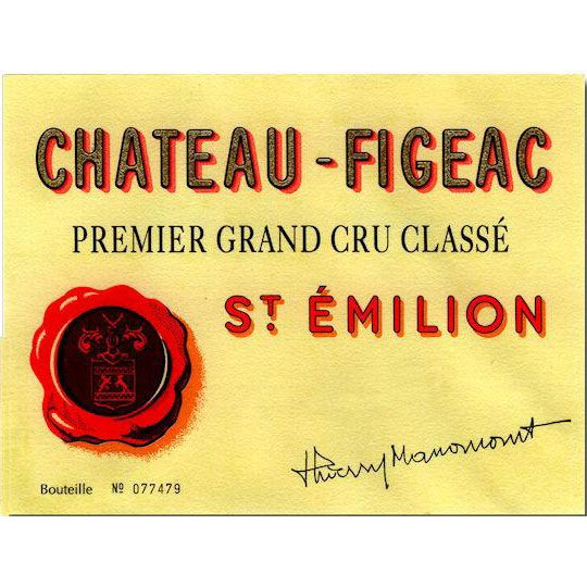Chateau Figeac  2012 Front Label