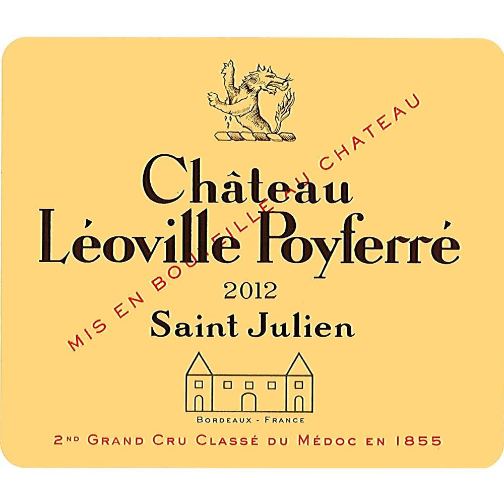 Chateau Leoville Poyferre  2012 Front Label