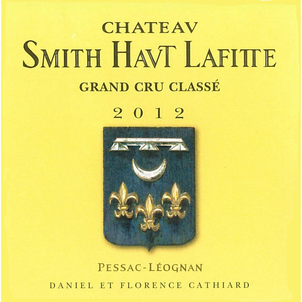 Chateau Smith Haut Lafitte  2012 Front Label