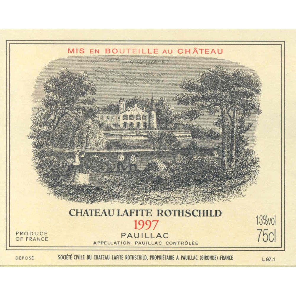 Chateau Lafite Rothschild  1997 Front Label