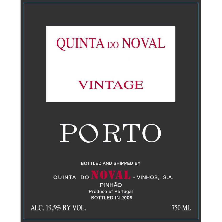 Quinta do Noval Vintage Port 2012 Front Label