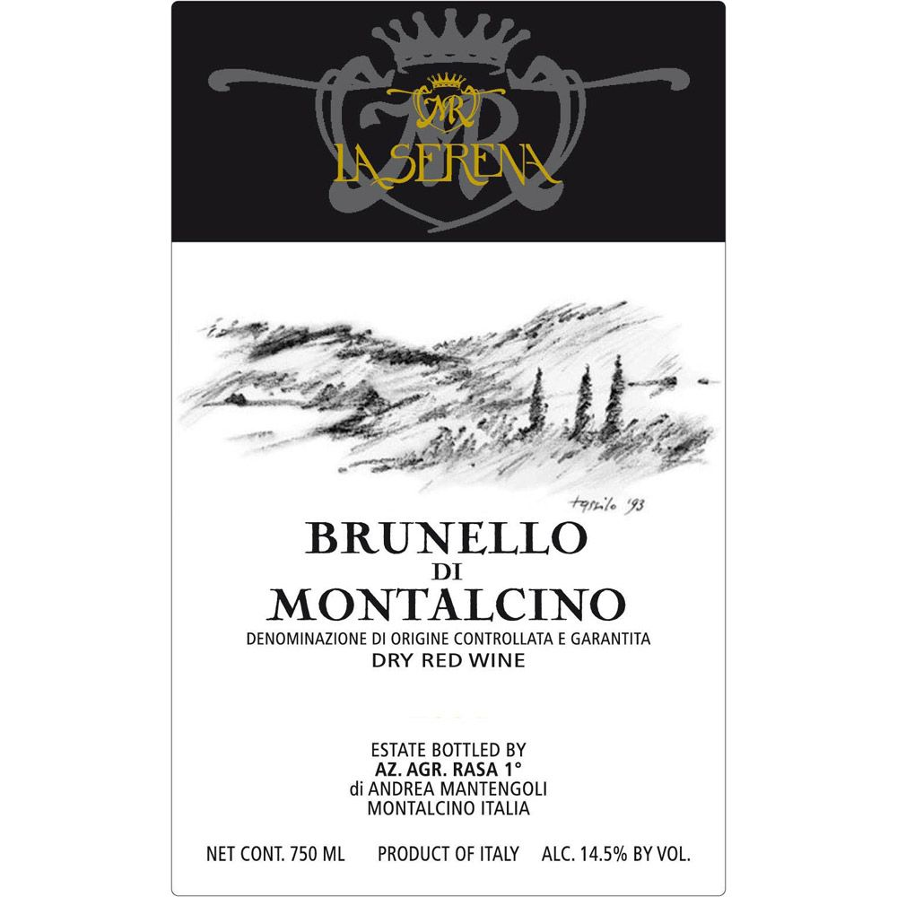 La Serena Brunello di Montalcino (375ML half-bottle) 2010 Front Label
