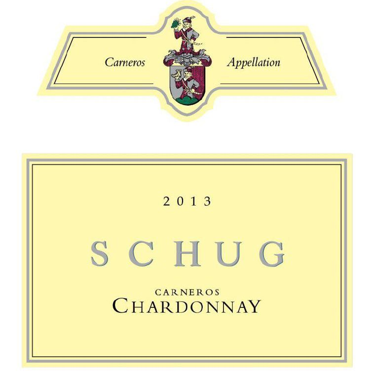 Schug Carneros Chardonnay (375ML half-bottle) 2013 Front Label
